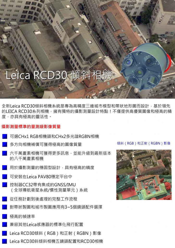 RCD30傾斜相機